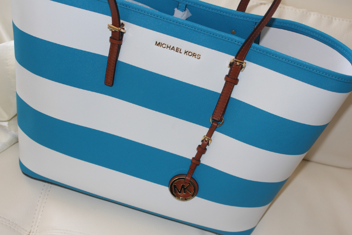 03efc9cdcae Quick Look  Michael Kors Jet Set Travel Stripe Tote   ShopBop Friends and  Family Sale
