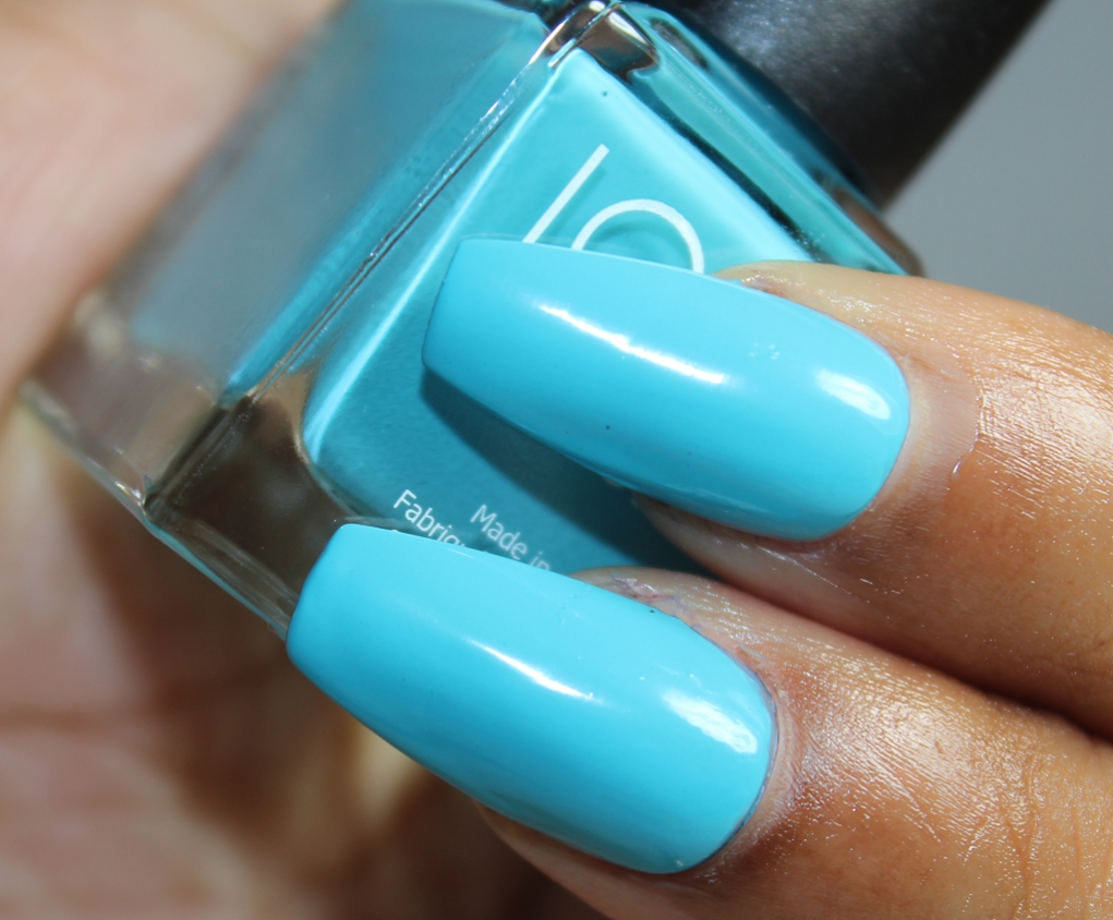 look nail color Turquoise-2