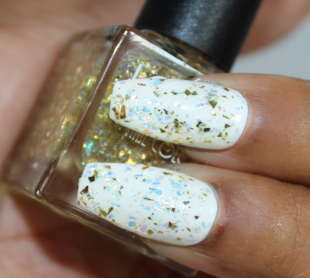 look nail color goldflakes-2